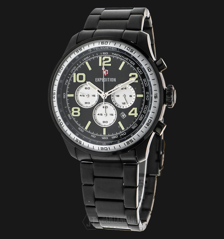 Expedition EXF-6728-MCBIPBABU Man Chronograph Black Dial Stainless Steel Machtwatch