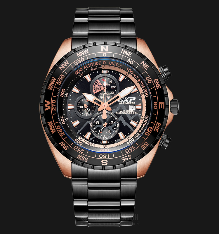 Expedition Altimeter E 6739 MC BBRBA Man Chronograph Black Dial Stainless Steel Machtwatch