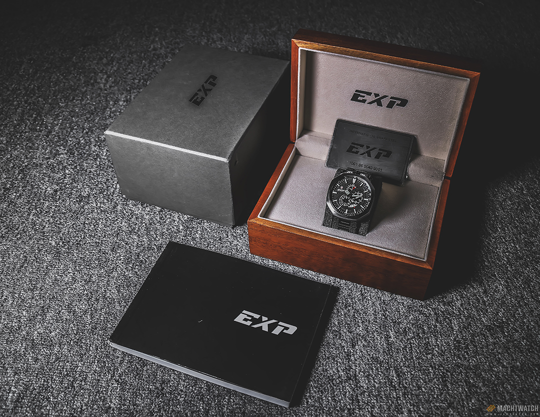 Expedition E 6745 MC BIPBA Man Chronograph Black Pattern Dial Stainless Steel Machtwatch