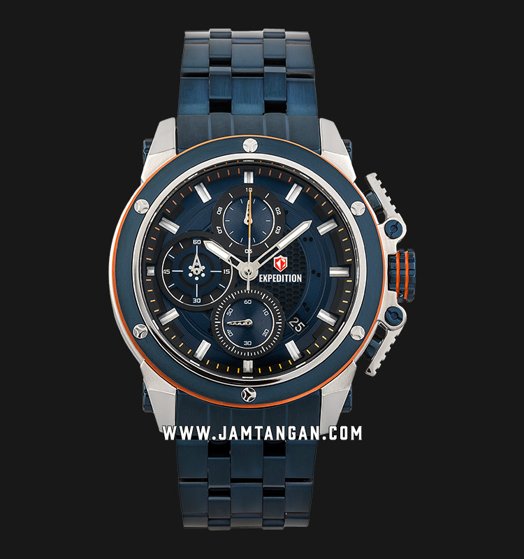 Expedition E 6748 MC BTUBU Chronograph Men Blue Dial Blue Stainless Steel Strap Machtwatch