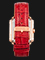 Expedition E 6757 BF LRGSL Ladies White Dial Red Leather Strap Thumbnail