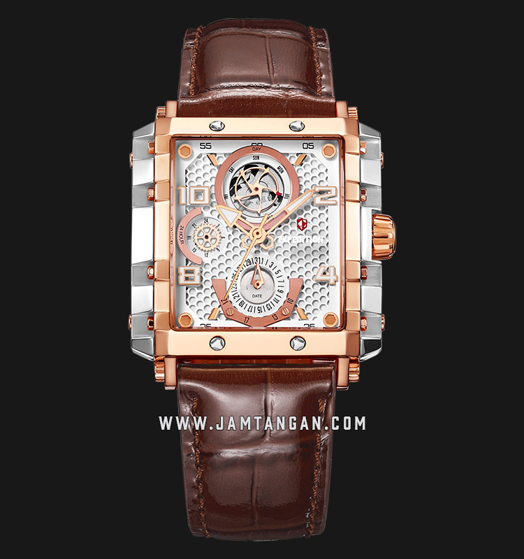 Expedition E 6757 BF LTRSL Ladies White Dial Brown Leather Strap Machtwatch