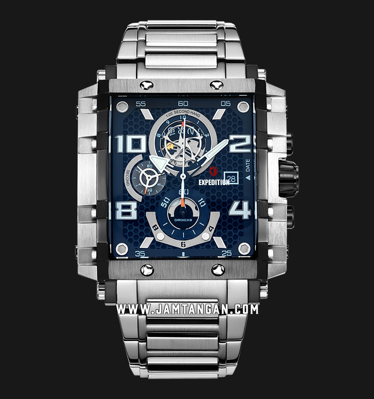 Expedition E 6757 MC BTBBU Chronograph Men Blue Dial Stainless Steel Strap Machtwatch