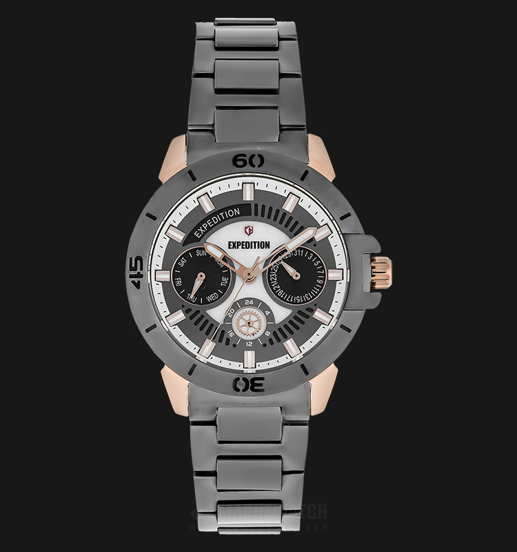 Expedition E 6758 BF BGRDG Ladies Grey Dial Grey Stainless Steel Strap Machtwatch