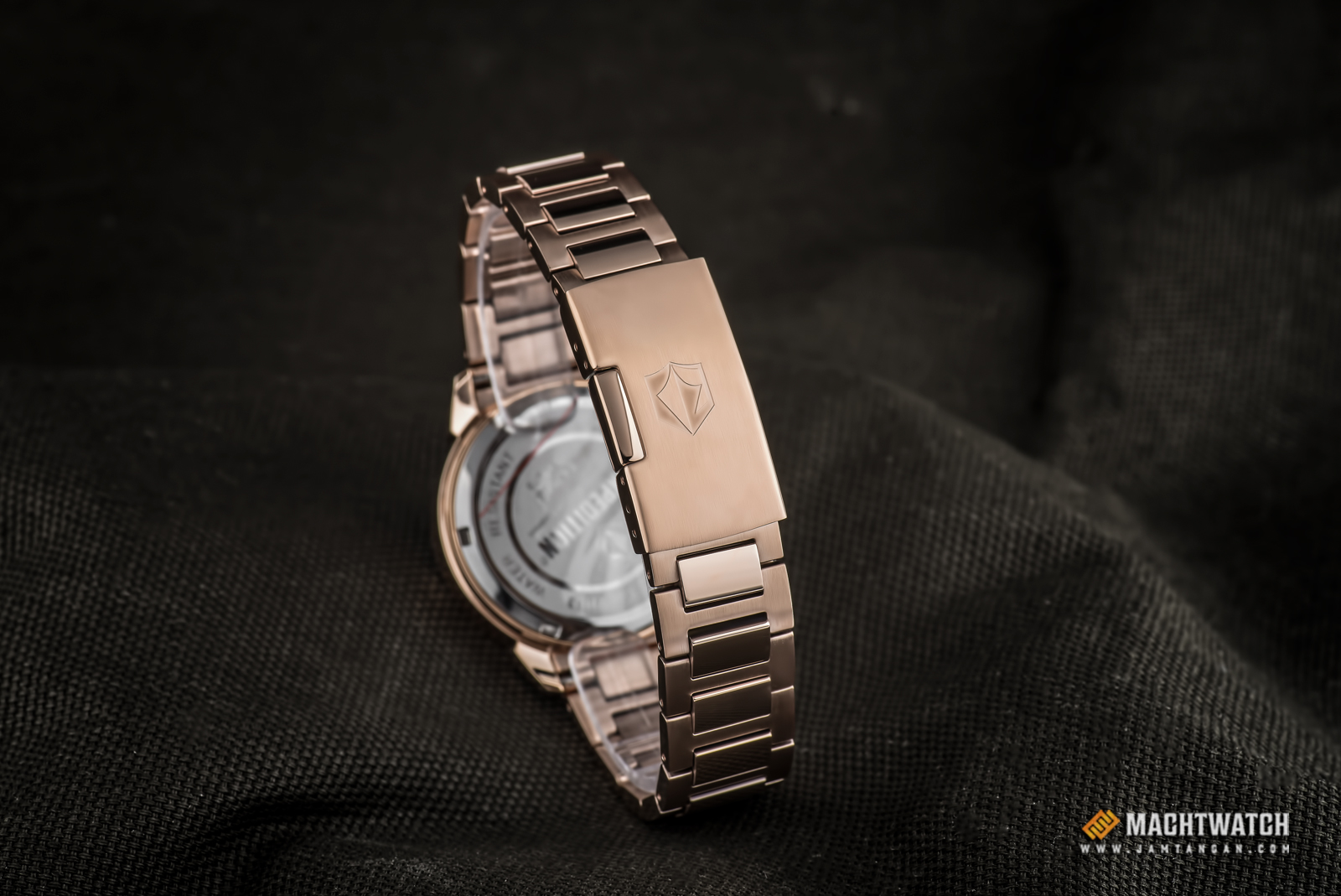 Expedition E 6758 BF BRGSL Ladies White Dial Rose Gold Stainless Steel Strap Machtwatch