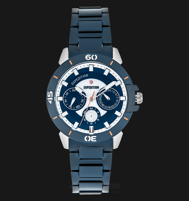 Expedition E 6758 BF BTUBU Ladies Blue Dial Blue Stainless Steel Strap Machtwatch