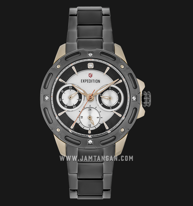 Expedition E 6760 BF BGCBU Ladies Mother of Pearl Dial Grey Stainless Steel Machtwatch