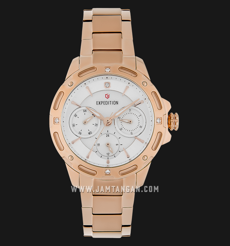 Expedition E 6760 BF BRGSL Ladies Mother of Pearl Dial Rose Gold Stainless Steel Machtwatch