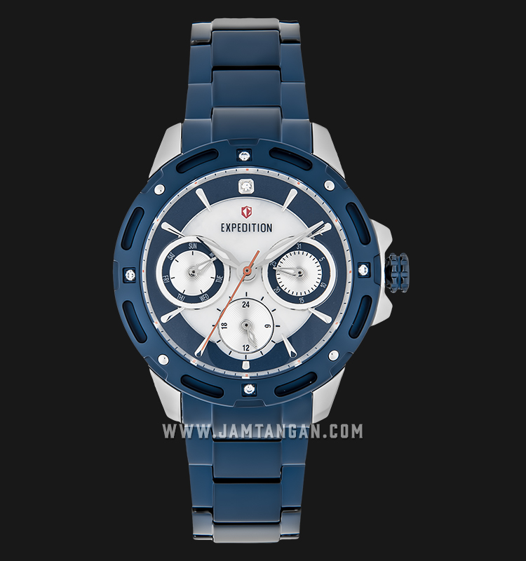 Expedition E 6760 BF BTUBU Ladies Mother of Pearl Dial Blue Stainless Steel Machtwatch