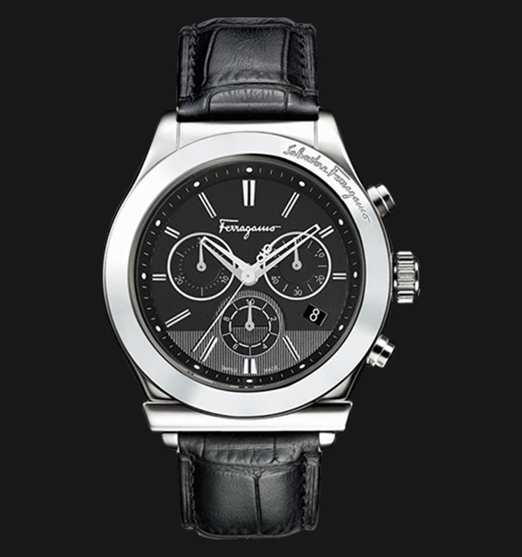 Salvatore Ferragamo F78LCQ9909-SB09 1898 Leather Chrono Machtwatch
