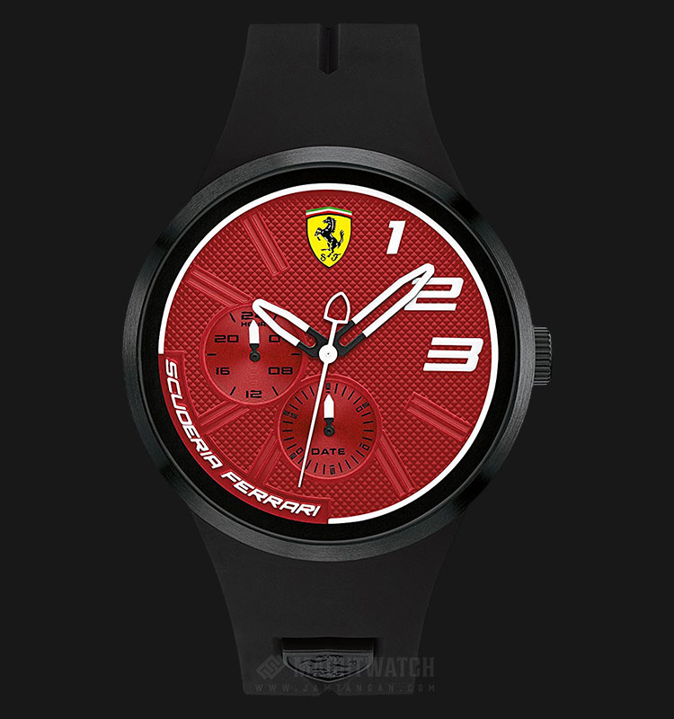Ferrari 0830473 Fxx Men Red Dial Black Rubber Strap Machtwatch