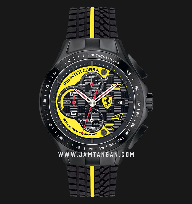 Ferrari Scuderia 0830078 Chronograph Men Multicolor Dial Dual Color Rubber Strap Machtwatch