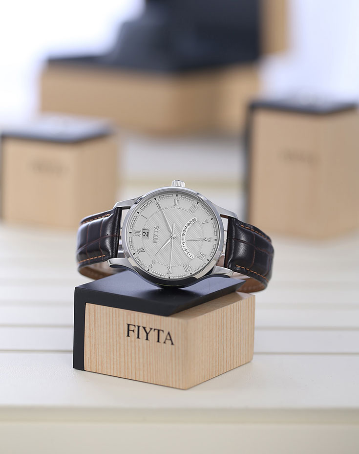 Fiyta Joyart Quartz Men Leather Watch G270.WWR Machtwatch