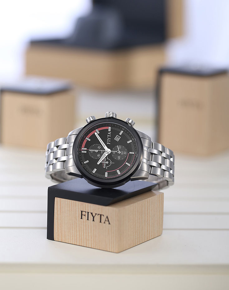 Fiyta Roadster Series Stainless Steel Quartz Mens Watch G782.WBW Machtwatch