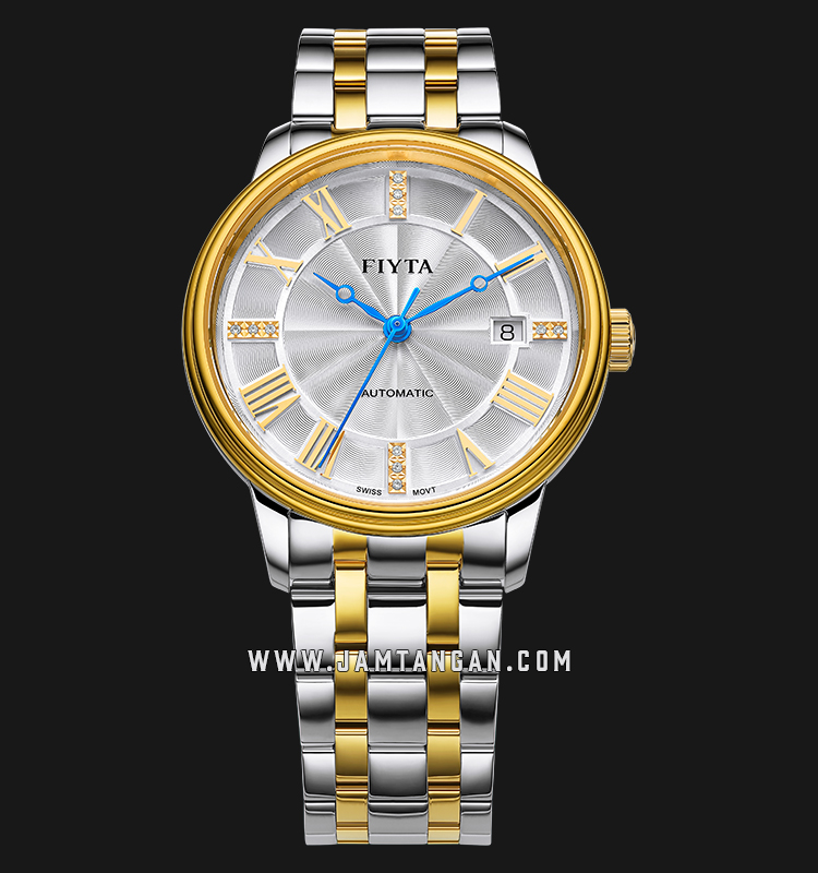 FIYTA GA802055.TWT Classic Automatic Man Silver Dial Dual Tone Stainless Steel Machtwatch