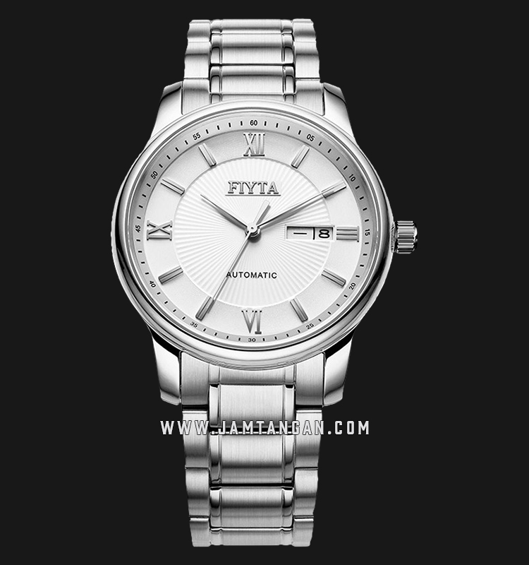 FIYTA GA8312.WWW Classic Automatic Man White Dial Stainless Steel Machtwatch