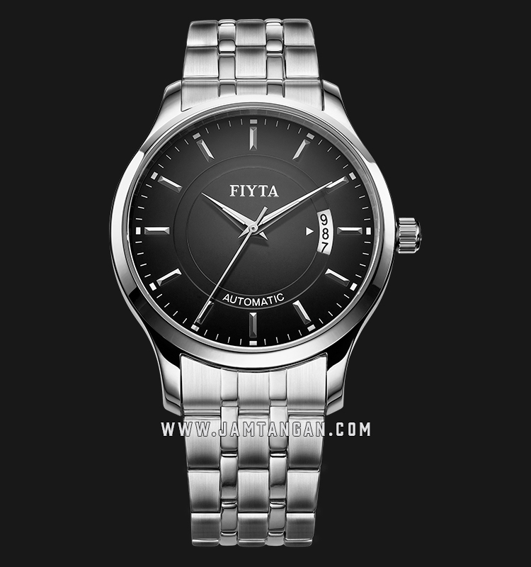 FIYTA GA8426.WBW Classic Automatic Man Black Dial Stainless Steel Machtwatch