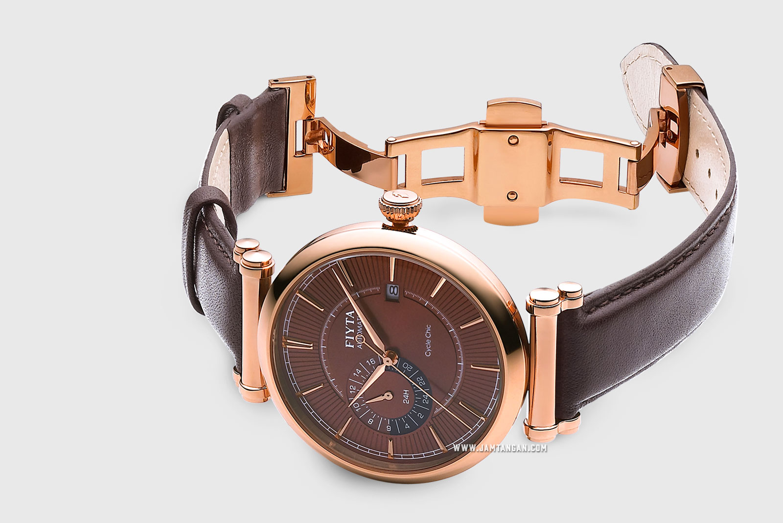 FIYTA GA850001.PSR IN Automatic Man Brown Dial Brown Leather Strap Machtwatch