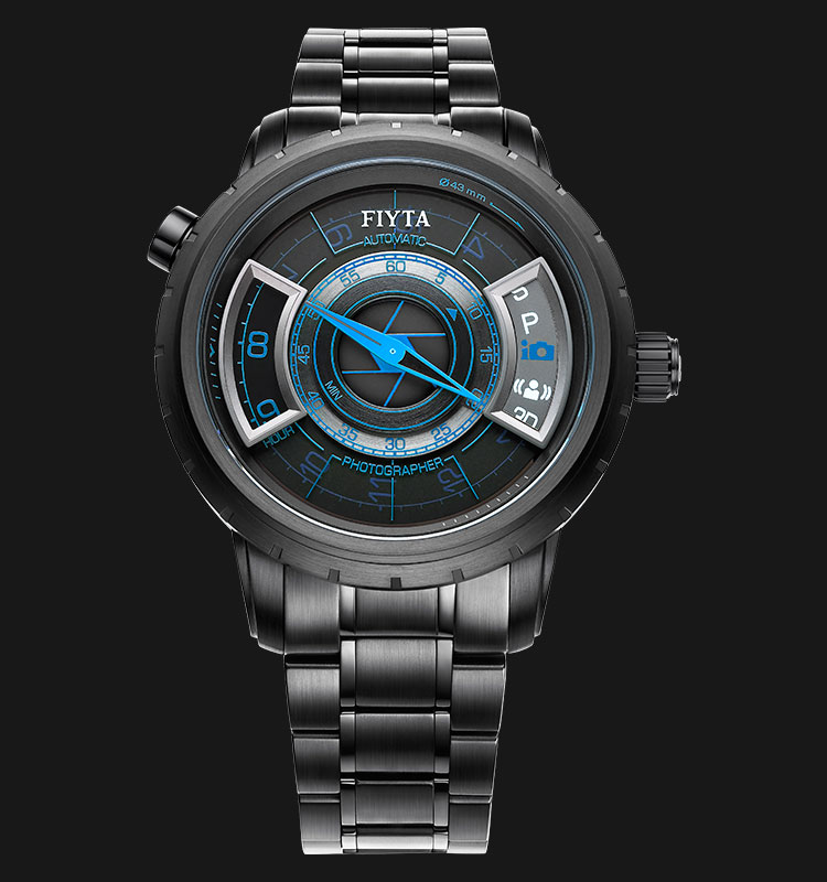 FIYTA Photography Stainless Steel Automatic Watch GA8502.BBB Machtwatch