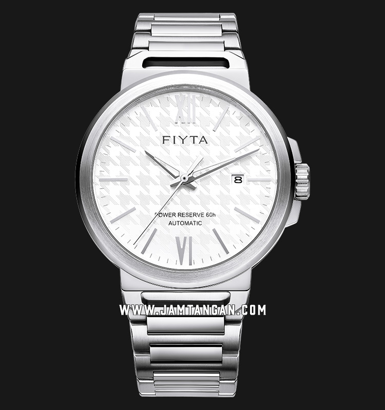 FIYTA GA852000.WWW Power Reserve Automatic Man White Dial Stainless Steel Machtwatch
