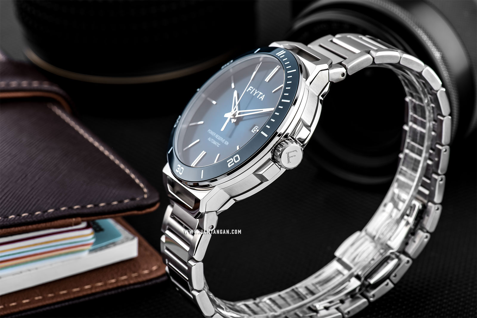 FIYTA GA852001.WLW Power Reserve Automatic Man Blue Dial Stainless Steel Machtwatch