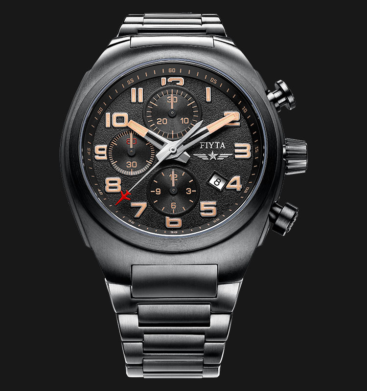 FIYTA Men Extreme Titanium Automatic Chronograph Watch GA8540.BBB Machtwatch