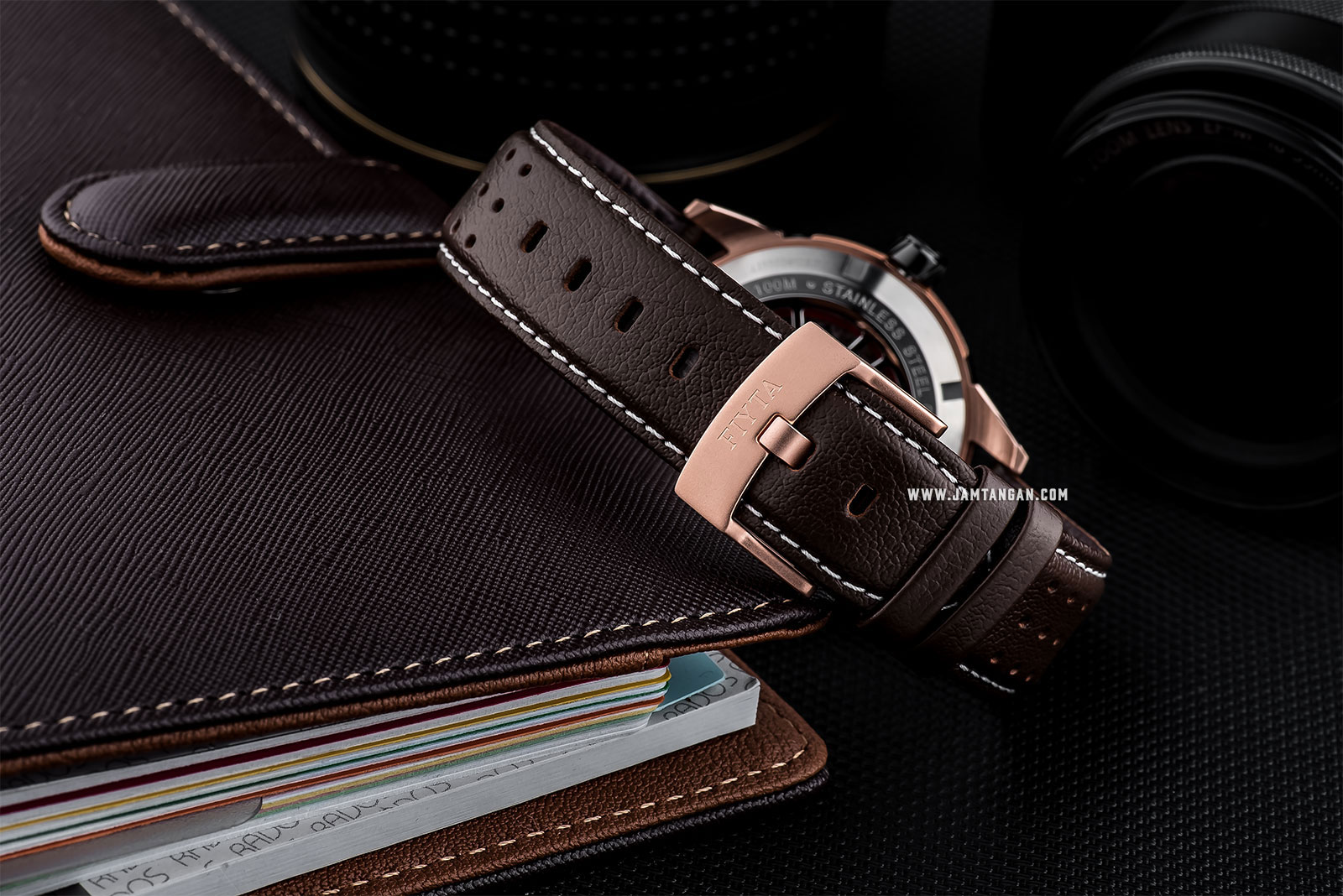 FIYTA GA866002.MBR Extreme Roadster Automatic Man Black Dial Brown Leather Strap Machtwatch