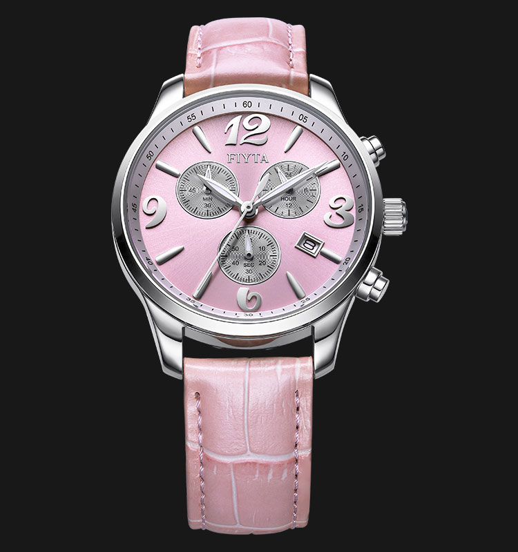 FIYTA Ladies Langxuan Series Pink Leather Strap Watch L798.WSS Machtwatch