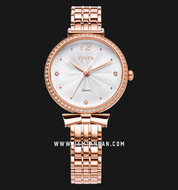 FIYTA L851000.PWPD Young+ Ladies White Dial Rose Gold Stainless Steel Machtwatch