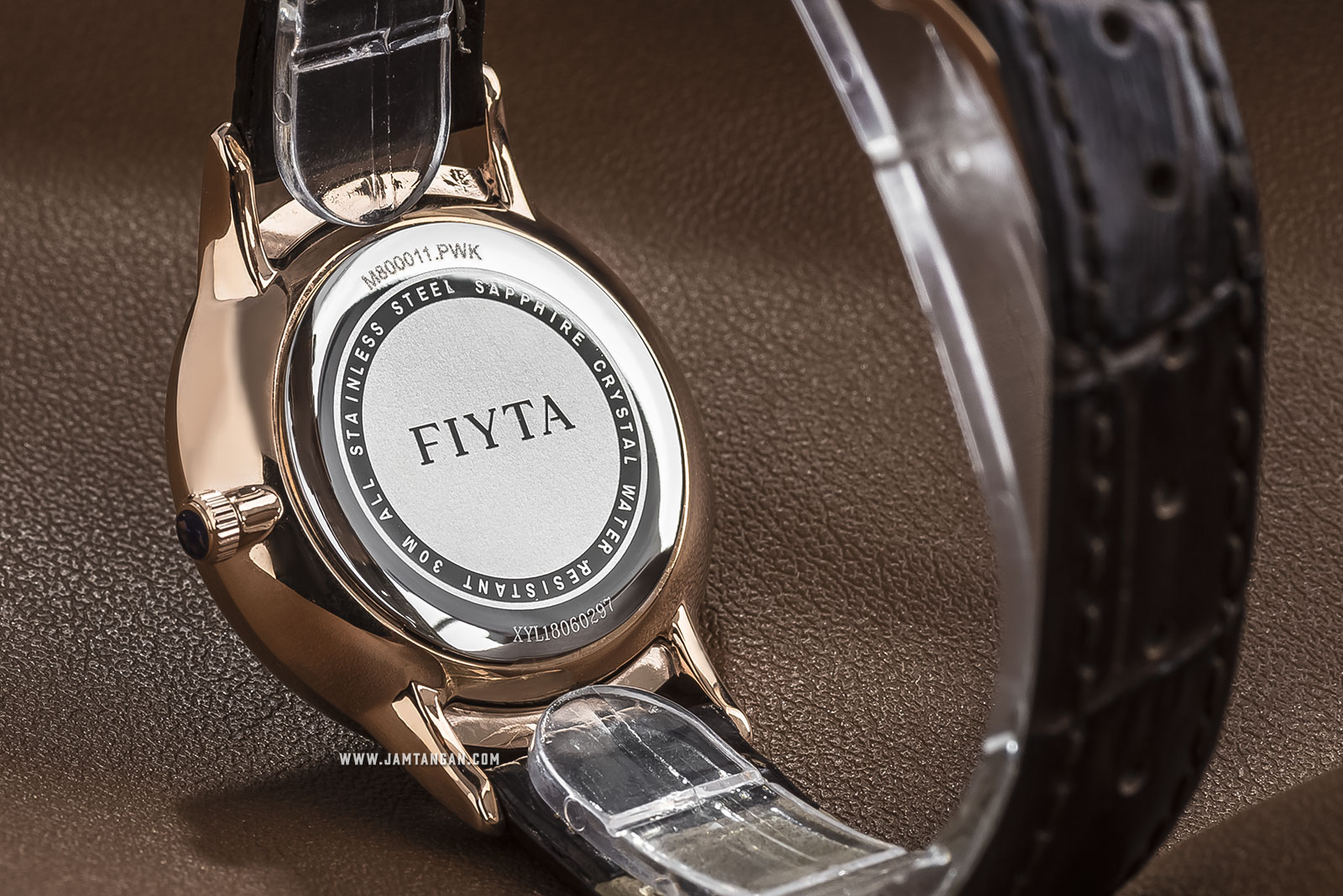 FIYTA M800011.PWK Joyart Ladies White Dial Brown Leather Strap Machtwatch