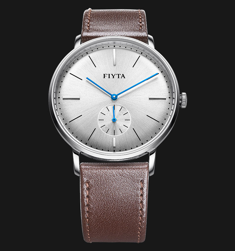 FIYTA Men Fashion Watch Brown Leather Strap WG800003.WWR Machtwatch