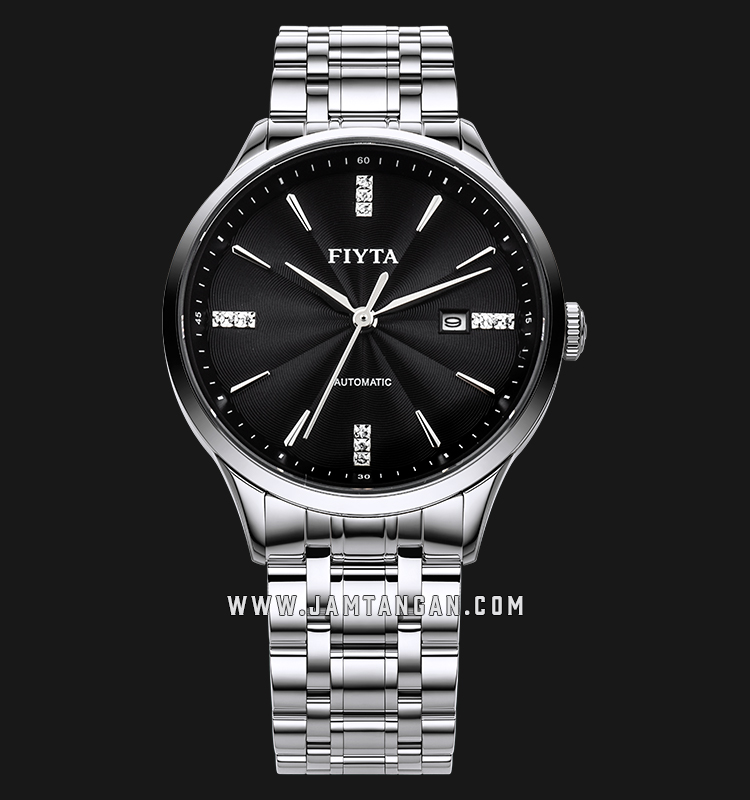 FIYTA WGA520003.WBW Tempting Automatic Man Black Dial Stainless Steel Machtwatch