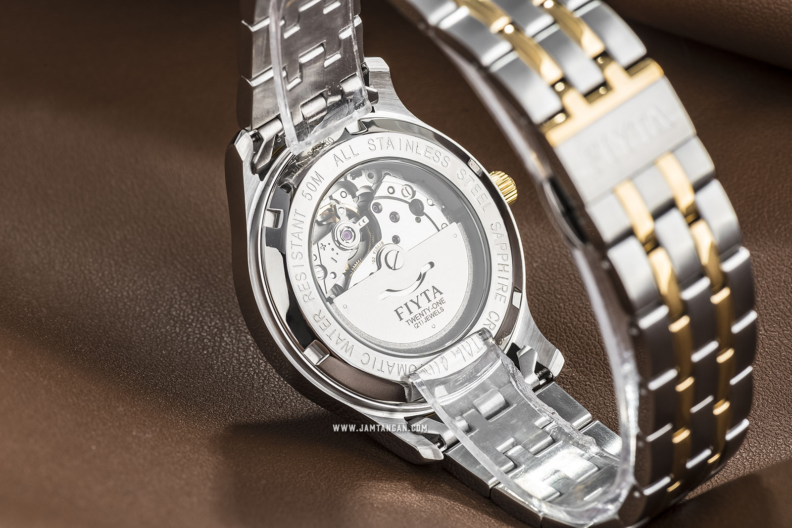 FIYTA WGA800015.TWT Classic Automatic Man Silver Dial Dual Tone Stainless Steel Machtwatch