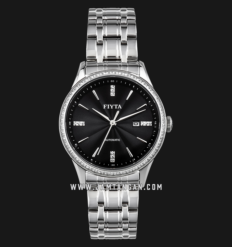 FIYTA WLA520003.WBWD Tempting Automatic Ladies Black Dial Stainless Steel Machtwatch