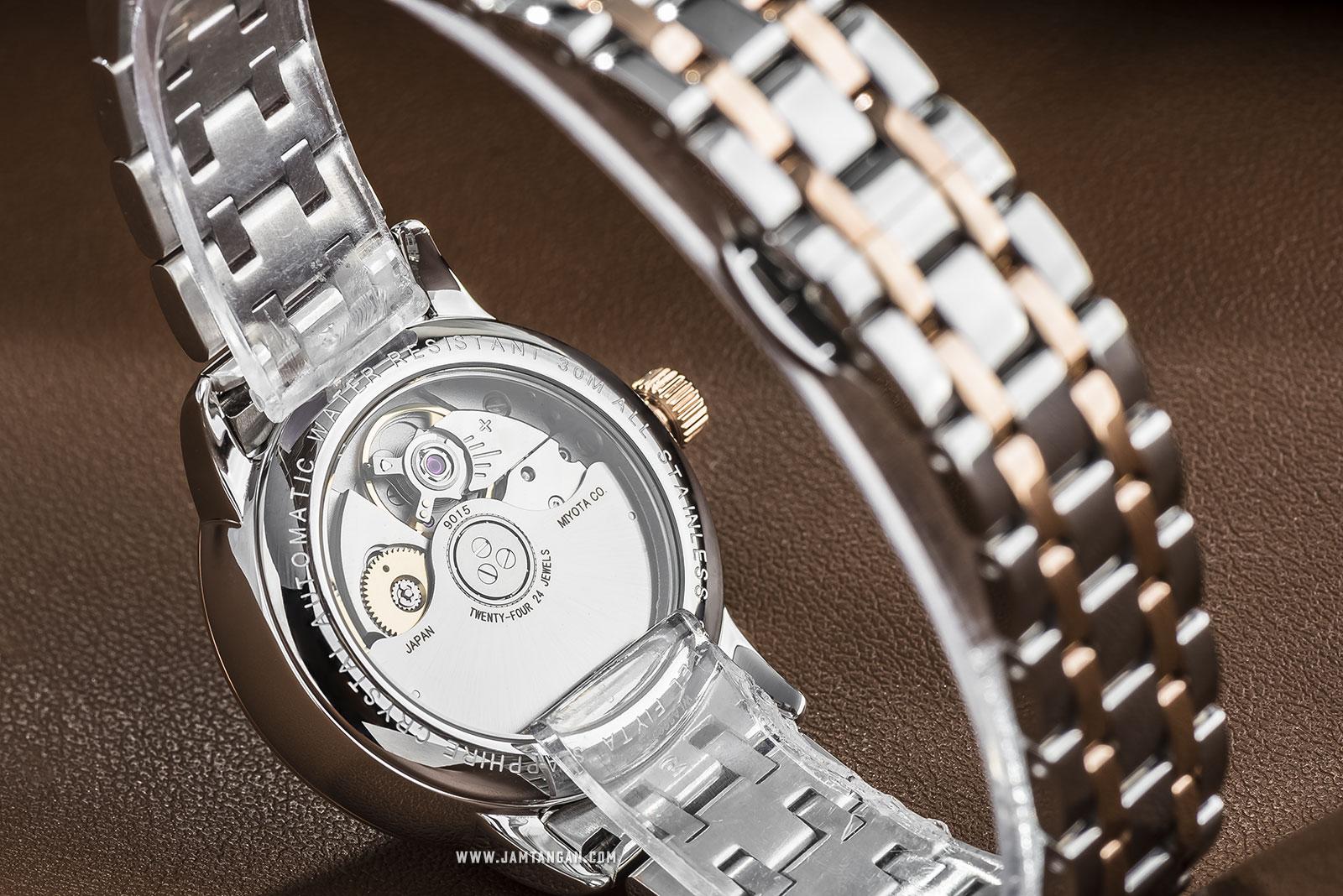 FIYTA WLA802055.MWM Classic Automatic Ladies Silver Dial Dual Tone Stainless Steel Machtwatch