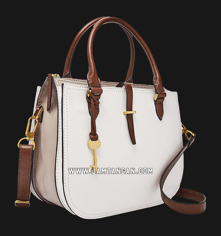 Fossil Ryder ZB7711994 White Leather Satchel Machtwatch