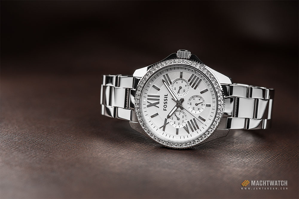 Fossil AM4481 Cecile Multifunction Silver Glitz Stainless Steel Machtwatch