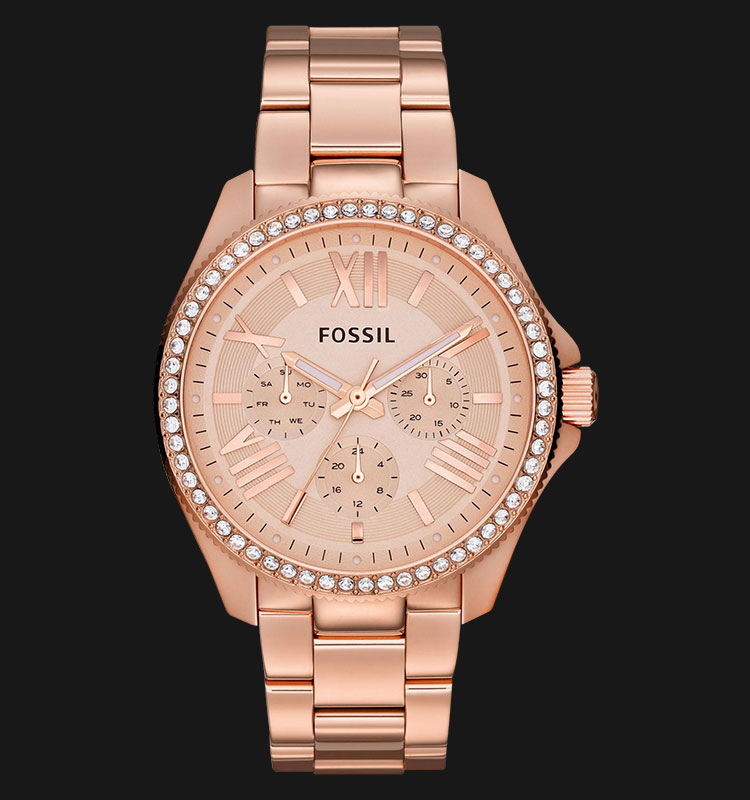 Fossil AM4483 Cecile Multifunction Rose Gold Glitz Stainless Steel Machtwatch