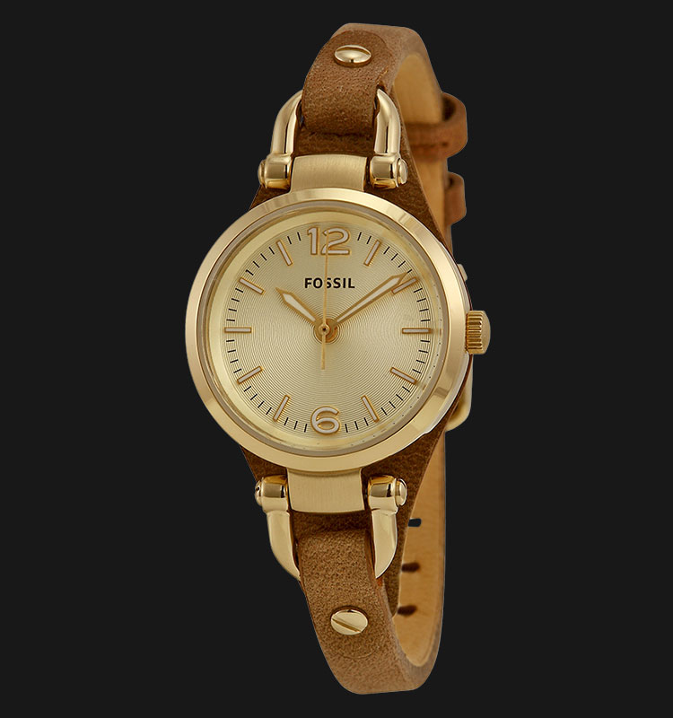 Fossil ES3264 Georgia Mini Brown Leather Strap Machtwatch