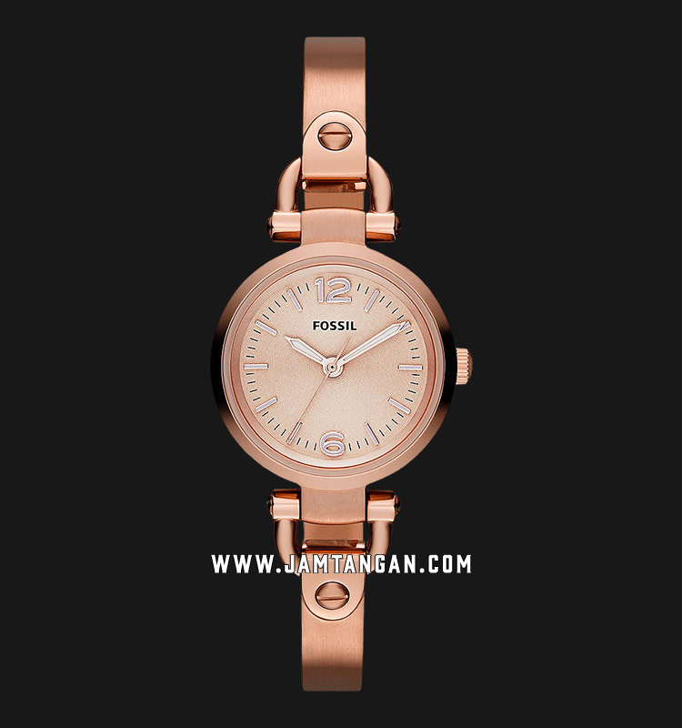 Fossil ES3268 Georgia Mini Rose Tone Stainless Steel Watch Machtwatch