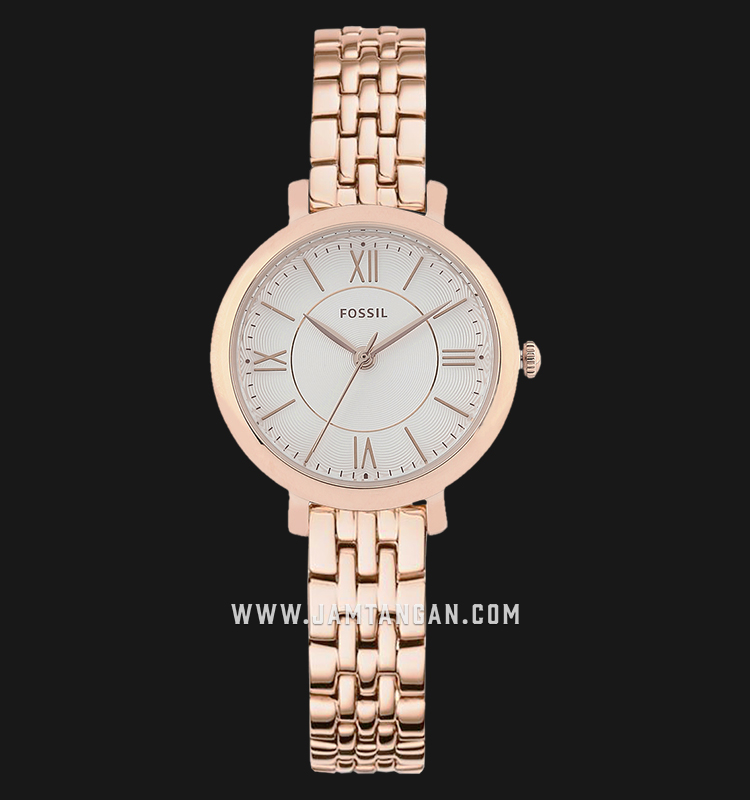 Fossil ES3799 Jacqueline Mini Rose Gold Tone Stainless Steel Machtwatch