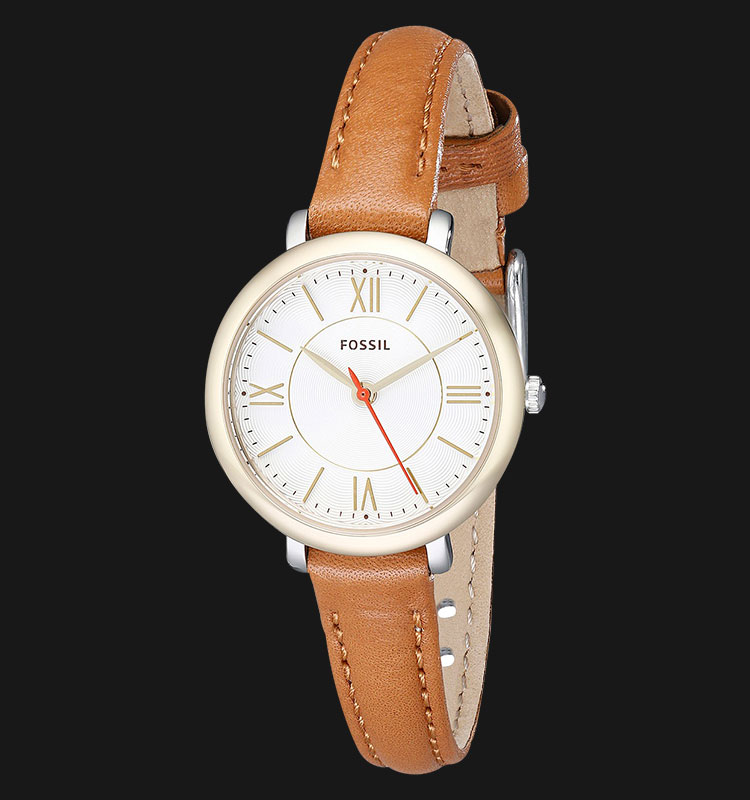 Fossil ES3801 Jacqueline Mini Tan Leather Watch Machtwatch