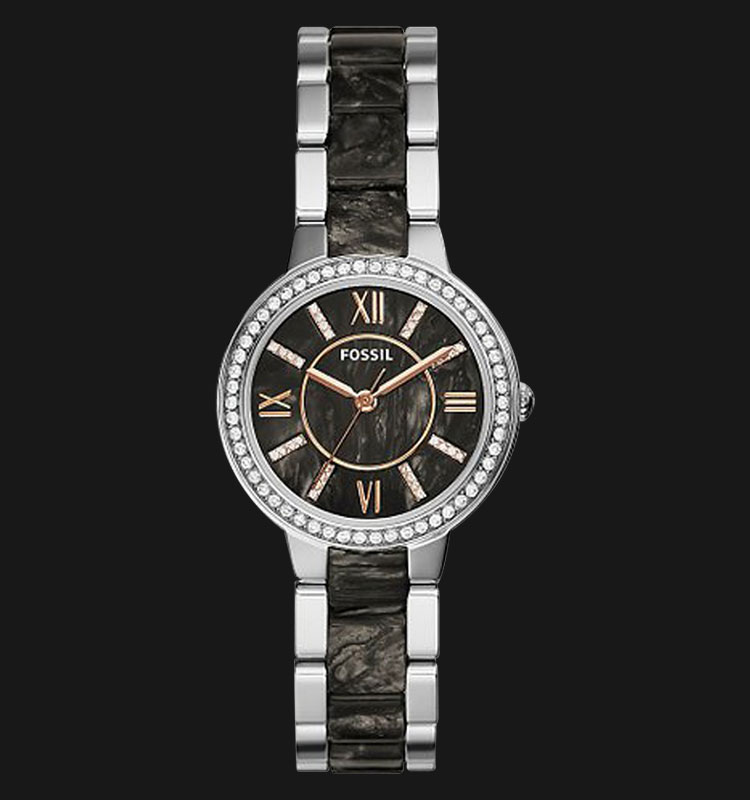 Fossil ES3918 Virginia Stainless Steel and Acetate Strap Machtwatch