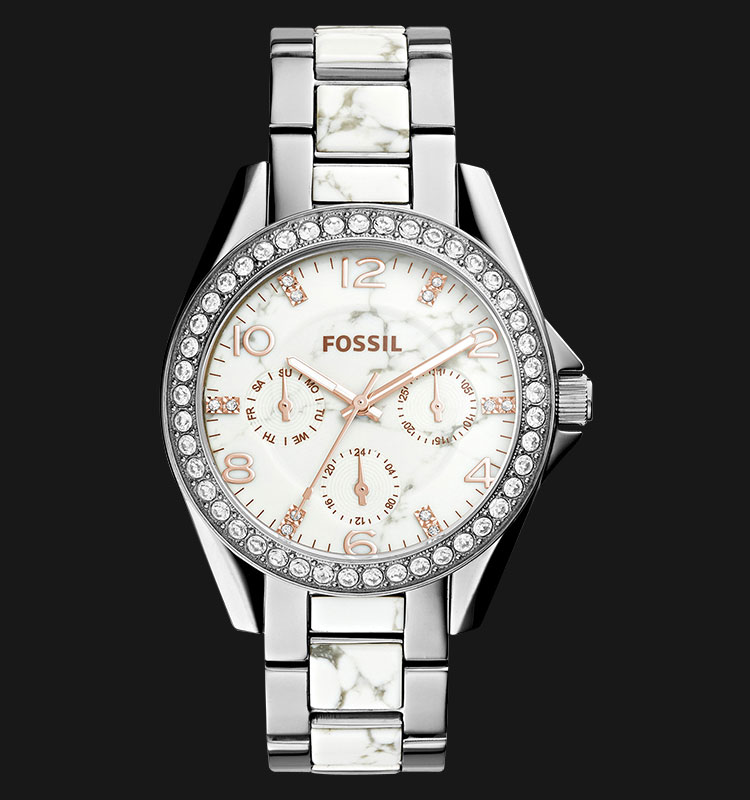 Fossil ES3973 Riley Multifunction Stainless Steel Machtwatch