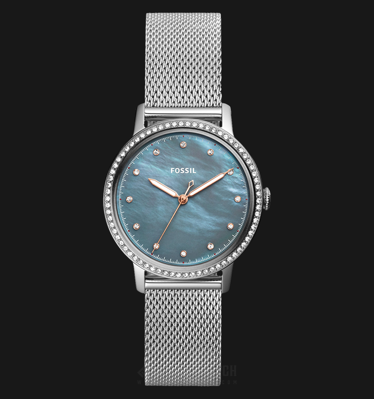Fossil ES4313 Neely Ladies Blue Mother Of Pearl Dial Stainless Steel Strap Machtwatch