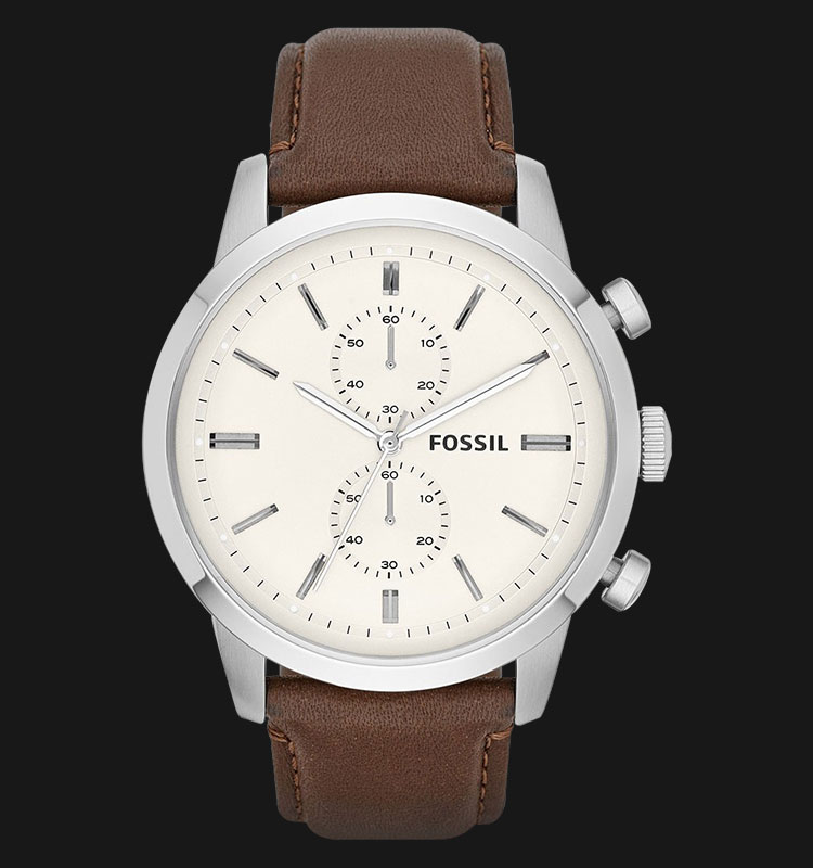 Fossil FS4865 Townsman Chronograph Brown Leather Strap Machtwatch