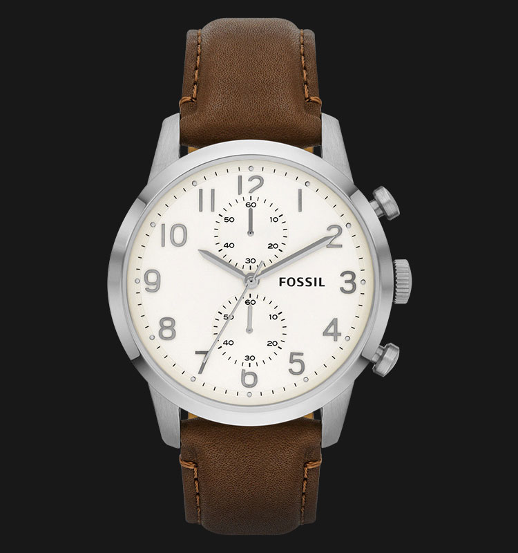 Fossil FS4872 Townsman Chronograph Brown Leather Strap Machtwatch