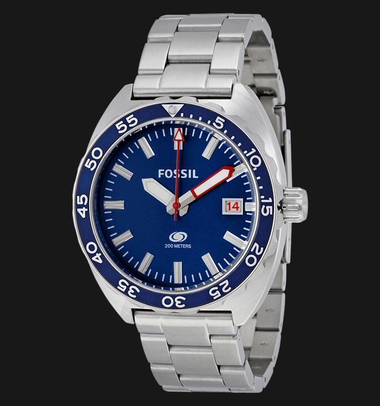 Fossil FS5048 Men Breaker Blue Dial Stainless Steel Strap Machtwatch