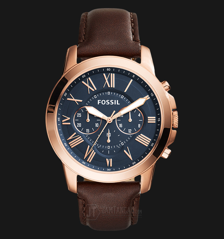 Fossil FS5068 Grant Chronograph Brown Leather Strap Machtwatch