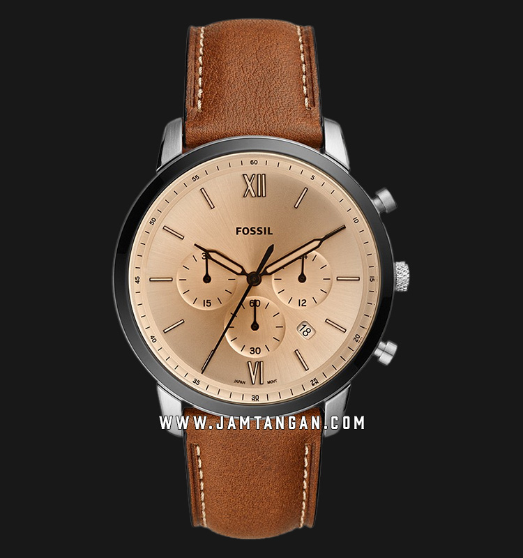 Fossil FS5627 Neutra Chronograph Brown Dial Brown Leather Strap Machtwatch